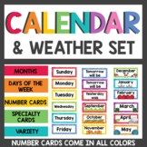 Calendar and Weather Cards Rainbow