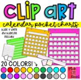 Calendar Pocket Charts Clip Art / Set of 111 Images