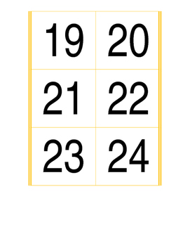 Calendar Pocket chart cards