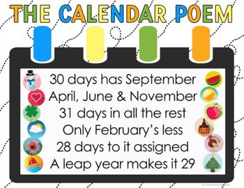 Calendar Poem Poster