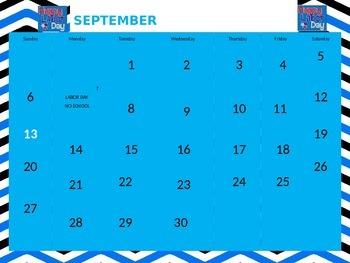Calendar Powerpoint for Morning Meetings Editable