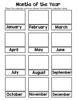Calendar Practice Binder - Adapted