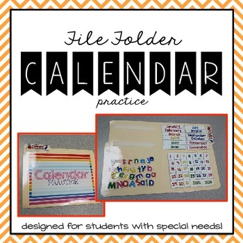 Calendar Practice File Folder Game { for Students with Spe