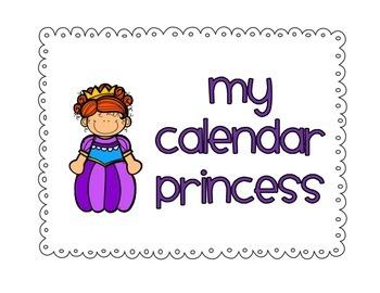 Calendar Princess { Pocket Chart }
