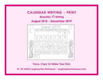 Calendar Writing 2017-2018 - Print