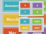 Calendar Printable (Month, Day, Year)