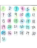 Calendar Printable for Bulletin Boards: Watercolors!