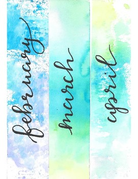 Calendar Printable for Bulletin Boards: Watercolors!