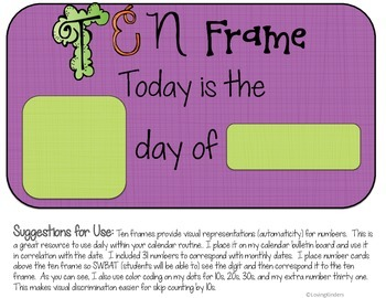 Calendar Printables, Interactive Components/Companion