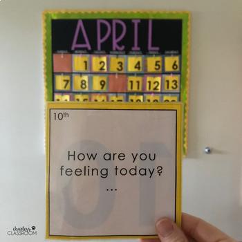 Calendar Quick Writes (April) | An Interactive Writing Calendar