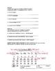 Calendar Quiz Spanish