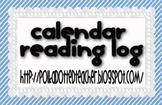 Calendar Reading Log