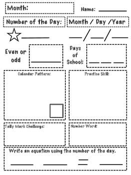 Calendar Record Sheet for Primary-FREEBIE