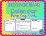 Calendar Recording Sheets- Interactive Calendar Freebie!