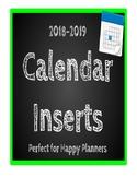 Calendar Refill pack- Happy Planner friendly