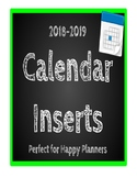 2019-2020 Calendar Refill pack- Happy Planner friendly