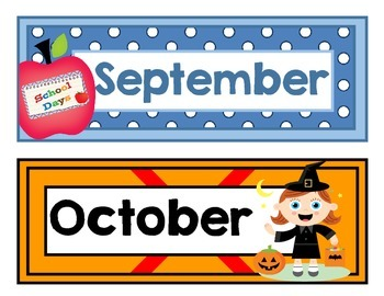 Calendar Resources for Back to School