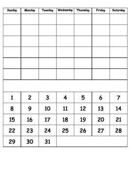 Calendar Routine Booklet