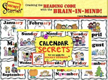 """Calendar SECRETS!"" from the SECRET STORIES® (w/ Phonics Secrets!)"