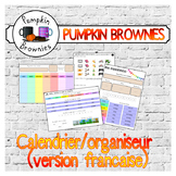 Calendar / Schedule / Routine chart (French version)