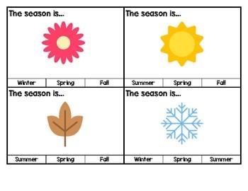 Calendar, Season & Weather Task Box Cards