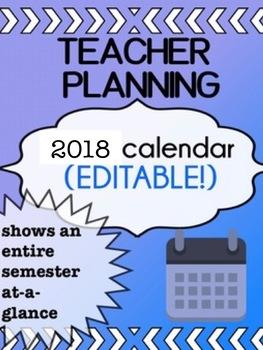 2017-2018 - First Week - Teacher Calendar - Unit planning - Long Range