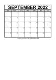 Calendar September 2021 (FREE Blank PDF Format)