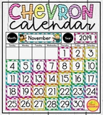Calendar Display in Chevron ~ Classroom Decor for Back To School