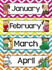 Calendar Display Set {Chevron Classroom Decor Theme}