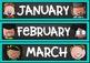 Calendar Set {Chalkboard and Teal Classroom Decor Theme}