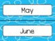 Blue Swirl Calendar Pieces