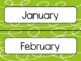 Green Swirl Calendar Pieces