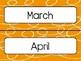 Orange Swirl Calendar Pieces