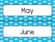 Blue Polka Dot Calendar Pieces