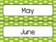 Green Polka Dot Calendar Pieces