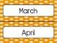 Orange Polka Dot Calendar Pieces