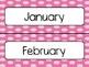 Pink Polka Dot Calendar Pieces