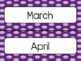 Purple Polka Dot Calendar Pieces