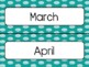 Teal Polka Dot Calendar Pieces