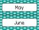 Teal Polka Dot Calendar Pieces