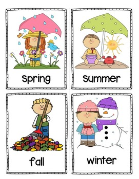 Calendar Set with Weather and Seasons (Illustrated)