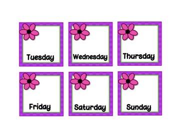 Calendar Set - April - Spring Flowers FREE