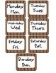 Calendar Set- Bear/Outdoor Themed