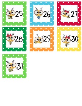 Calendar Set Bee Theme