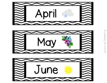 Calendar Set - Black Chevron