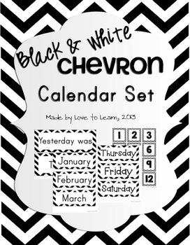 Calendar Set - Black & White Chevron