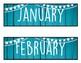 Calendar Set (Blue Rustic Wood)