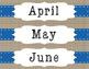 Calendar Set Blue White and Tan