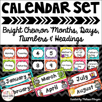 Calendar Set for Classroom Display