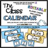 Class Calendar Curvy Design